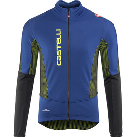Castelli Mortirolo V Jacket Men ceramic blue/yellow fluo